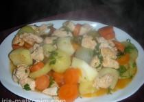 חזה עוף עם ירקות