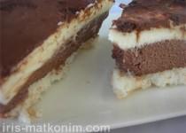 עוגת שכבות על בסיס קוקוס