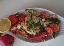 דג סול אפוי בתנור