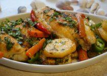 פילה אמנון(מושט) עם ירקות בתנור