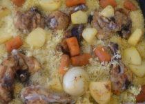 עוף עם אורז וירקות – הכל בתבנית אחת