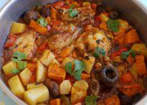 עוף עם ירקות בסגנון הודי